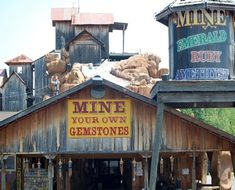 Pigeon Forge Gem Mine - $50 bucket includes free 1 ct cut. Off season hours generally 10 am - 4 pm