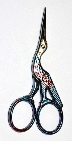 Vyšívací nůžky - čáp Bargello, Scissors, Bicycle Kick