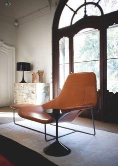 Chaise longue LAMA en cuir - ZANOTTA
