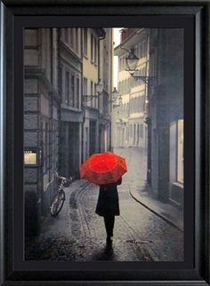 Red Rain   Figurative   Framed Art   Wall Decor   Art   Pictures   Home Decor