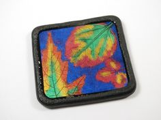 Mica Leaf designs on polymer clay, part of a free tutorial by The Blue Bottle Tree