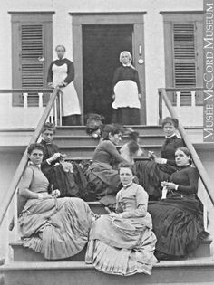 1886 young woman in steps-girls college?