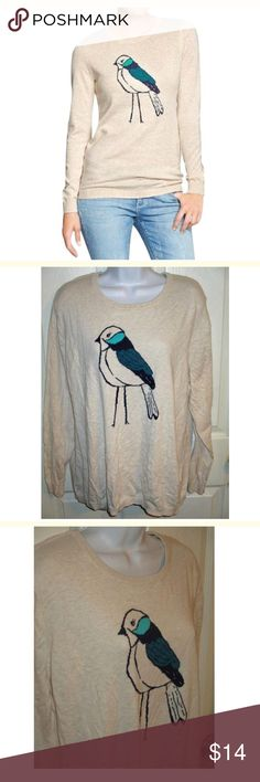 OLD NAVY Blue Bird Sweater SZ XXL This is stunning Blue Bird.. Size is XXL.. 2XL.. Cotton, polyester and acrylic and bust measures 52 inches and length is 28 inches. Old Navy Sweaters Crew & Scoop Necks