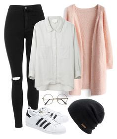 """Lazy day with Jimin"" by ebenita95 ❤ liked on Polyvore featuring Topshop, Chicwish, Coal, Band of Outsiders, adidas Originals, women's clothing, women, female, woman and misses"