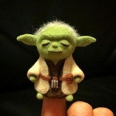 Needle-felted Yoda