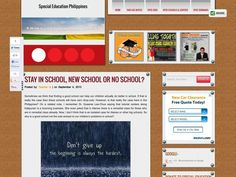Special Education Philippines Special Education, Philippines, Messages, Feelings, School