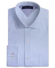 Tommy Hilfiger Slim-Fit Textured Solid Dress Shirt