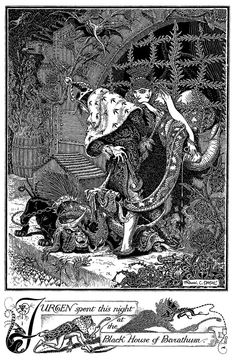 Complex line and thought; Frank Papé Many more magical illustrations of Frank Cheyne Papé at http://vintagebookillustrations.com/frank-cheyne-pape/