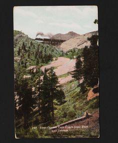 silver Cascade Falls Cripple Creek Short Line Colorado Unused