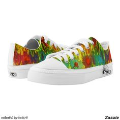 colorful printed shoes