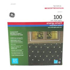 GE LED Mini Clear Net Christmas String Lights >>> Continue to the product at the image link. (This is an affiliate link) Indoor String Lights, Christmas String Lights, Energy Efficient Lighting, White Light, Seasonal Decor, Image Link, Decor Ideas, Seasons