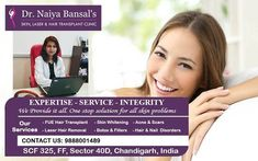 Dr. Naiya Bansal is the best skin specialist doctor in Chandigarh who helps you to deal with skin issues, for example, loose eyes, dull spots, or unending redness that doesn't react to items, it's best to get proficient help instead of self-analyze yourself at the drugstore. Skin Specialist Doctor, Permanent Laser Hair Removal, Best Hair Removal Products, Fue Hair Transplant, Laser Hair Removal Treatment, Botox Fillers, Skin Clinic, Chandigarh, Acne Scars