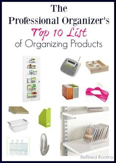 Want to learn what tools pro organizers use to reign in the clutter? Check out the Professional Organizer's Top 10 List of Organizing Tools