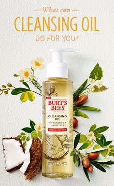 Heard about the cleansing oil method, but just haven't gotten around to trying it yourself? Burt's Bees Cleansing Oil is just the thing to get you hooked. Formulated with 100% natural Coconut and Argan Oils, it gently and naturally removes dirt and makeup without drying your skin or leaving an oily residue.