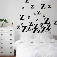 Wall Sticker ZZZ by Sticky!!! Wall Stickers, Wall Murals, Canvas Prints, Quotes, Home Decor, Wall Clings, Wallpaper Murals, Quotations, Decoration Home