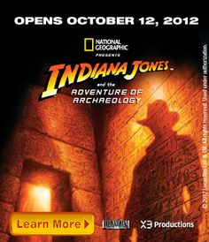 Indiana Jones exhibit at the Discovery Science Center near the Howard Johnson  Hotel & Water Playground. All near Disneyland! Book your adventure today and while in Anaheim stay at the Howard Johnson Hotel & Water Playground: http://www.hojoanaheim.com/