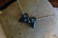 Polymer Clay PS3 Controller Necklace