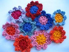 Little Picot Flowers Crochet Pattern and Tutorial