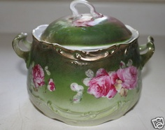 Antique Wheelock Co of Germany Bisquit Jar Covered Dish in California Rose P | eBay
