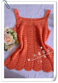 Artesanato com amor...by Lu Guimarães: Linda blusa em crochê com gráfico …