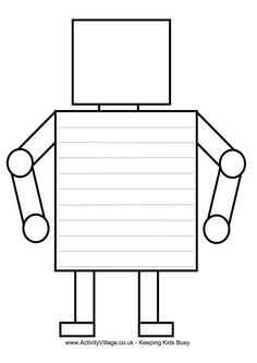Kids can use this lovely printable to write their own robot story. If I could have any robot, it would do my housework for me! 2nd Grade Writing, Kids Writing, Writing Paper, Writing Activities, Robot Classroom, Classroom Themes, Les Inventions, The Wild Robot, Paper Robot