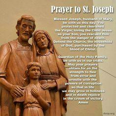 Husband of Mary, pray for us! Litany Of St Joseph, St Joseph Prayer, Saint Joseph, Feast Of St Joseph, Devotional Quotes, Biblical Quotes, Bible Verses, Catholic Religion, Catholic Saints