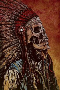 Spirit of a Nation by David Lozeau Tribal Canvas Art Giclee Print – moodswingsonthenet native wallpaper Fantasy Kunst, Fantasy Art, Los Muertos Tattoo, Native American Warrior, Native American Artwork, Skeleton Art, Skeleton Love, Art Graphique, Native Art