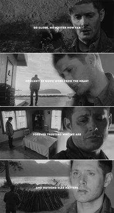 That's all that counts. Almost cried when this happened in the first episode at sea … – funny wallpapers backgrounds Misha Collins, Jensen Ackles, Supernatural Facts, Supernatural Background, Great Love Stories, Love Story, Dean And Castiel, Dean Winchester Quotes, Cartoon Tv Shows