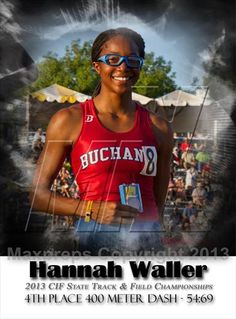 Hannah 4th place accomplishment in last years CIF state championships.