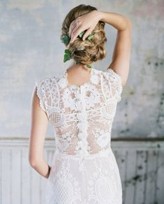 Claire Pettibone Cheyenne lace wedding dress