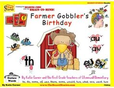 """Currently in the FREE download window!!!  SECRET STORIES® Guided Reader """"Farmer Gobbler's Birthday"""" for targeted reinforcement and informal assessment of """"secret"""" phonics patterns & sounds!.....scroll down to bottom for freebie link to product :)"""
