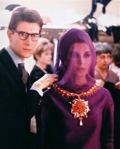 Orchid. Yves Saint Laurent backstage - 1962