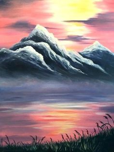 Image Result For Easy Acrylic Painting Ideas For Beginners On Canvas Easy Landscape Paintings Landscape Paintings Acrylic Landscape Paintings