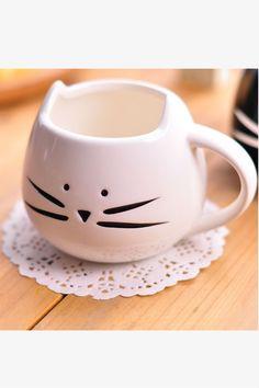 Cute White Kitten Mug