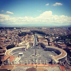 Veduta dalla Cupola di San Pietro, #Rome #Italy