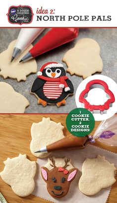 North Pole Pals Cookie Cutter can be used to make Penguins and Reindeer