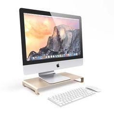 Satechi Aluminum Monitor Stand Raises Your Monitor or Laptop for Maximum Comfort |Gadgetsin
