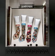 big tubes paint created by Joann Tan Studio for Hermes luxury stores http://www.joanntanstudio.com/