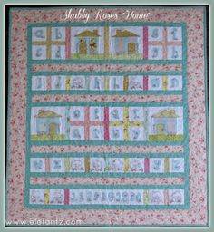 Big reveal, plus the label and final block of my Shabby Roses HOME Quilt!