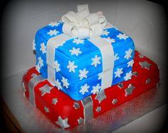 Gâteau boites cadeaux en fondant Gift box cake in fondant