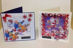Two Xmas cards made from the Xmas wrinkles Cd