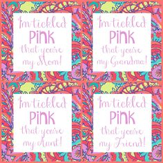 Tickled Pink Mother's Day Free Printable by Foodtastic Mom