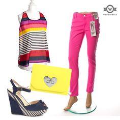 Spodnie Denim Co (Butik #Wzorcownia), Bluzka #Atmosphare (butik Wzorcownia), Buty  #New #Look Torebka Sarah Hard
