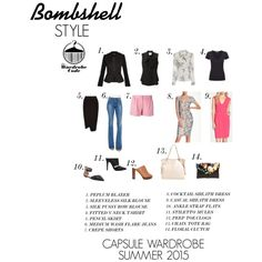 Bombshell: Capsule Wardrobe by nicole-longstreath on Polyvore featuring Cynthia Rowley, Clove, Moschino, Whit, James Perse, Morgan, Moschino Cheap & Chic, Frame Denim, Oasis and See by Chloé