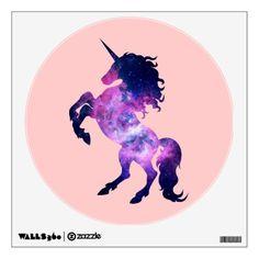 Space unicorn wall sticker #unicorn #wall #decal