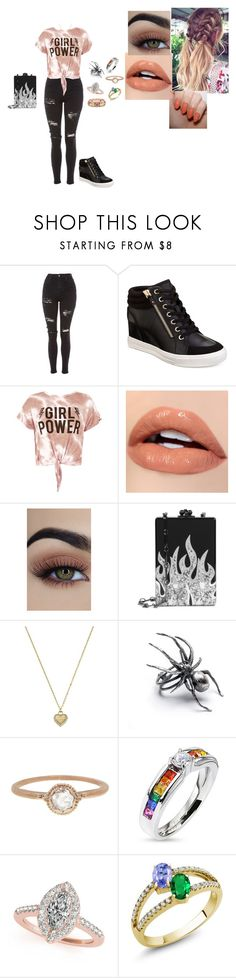 """Untitled #119"" by brooklyncarter21 on Polyvore featuring Topshop, ALDO, Sans Souci, Morgan Taylor, Edie Parker, Michael Kors and Megan Thorne"