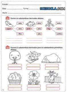 Atividades de Português 4° ano - Substantivo - SÓ ESCOLA