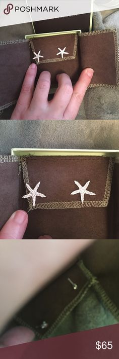 Ross Simon SS starfish earrings Authentic SS starfish earrings with CZ stones and post back. Brand new in the box never worn. Perfect match for the necklace in my closet Ross Simon Jewelry Earrings