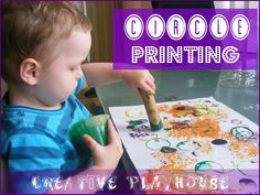 I Think my 2 yr old would love this.... and me too!!   Creative Playhouse: Circle Printing
