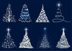 Free Christmas Clip Art | Abstract Christmas Tree Vector Set | Free Vector Graphics | All Free ...